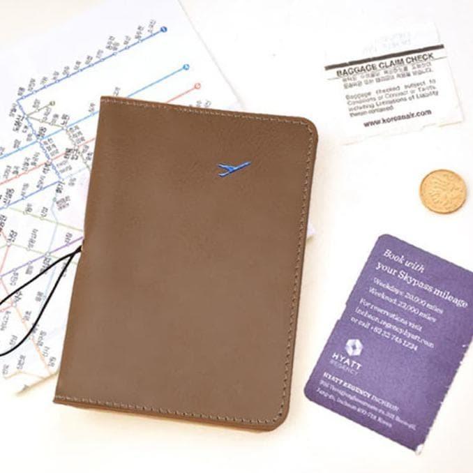 Passport Leather Cover Case\U002Fsampul Kulit Pelindung Paspor Korean