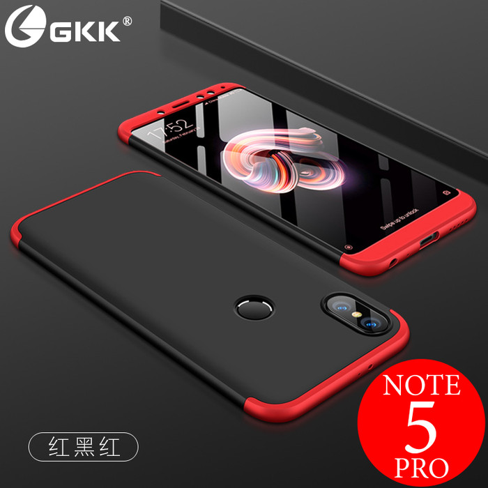 huge discount 58b7e b84f0 Jual 360 GKK Case Xiaomi Redmi Note 5 Pro (Hard Case Back Protection) (ORI)  - Hitam L Merah - CB Electronic Shop | Tokopedia