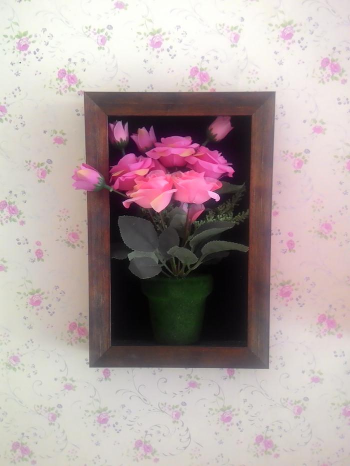 Jual Bunga Vas Frame 3 Dimensi Unik Cantik Bunga Palsu Kota Cilegon Shabbyshop83 Tokopedia