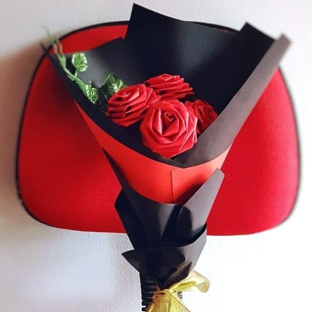 Jual Hand Bouquet Buket Bunga Mawar Kertas Kado Wisuda Souvenir Kota Bandung Paperose Tokopedia