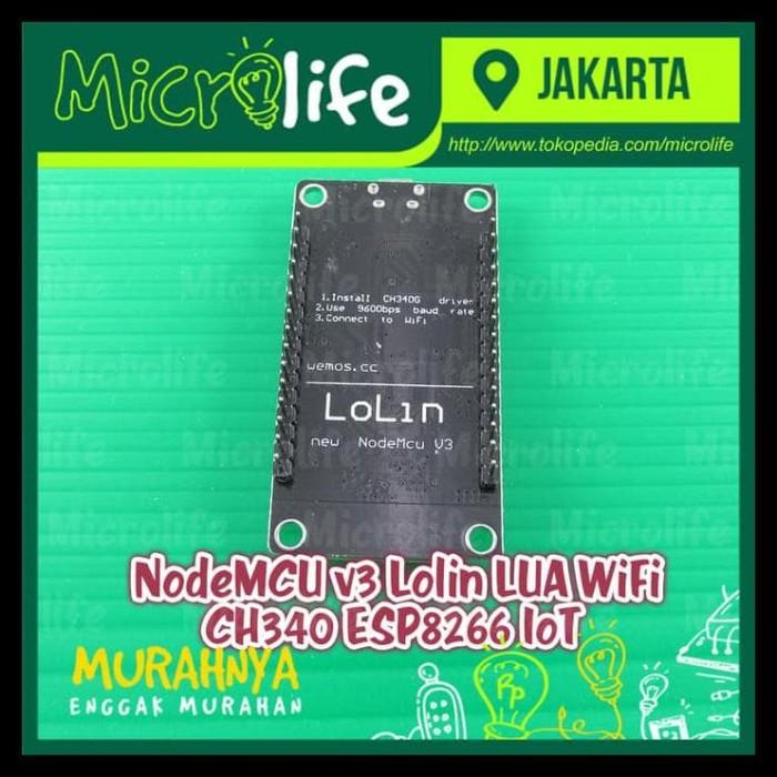 Jual Nodemcu V3 Lolin Lua Wifi Ch340 Esp8266 Iot - DKI Jakarta - Baru  Store ID | Tokopedia