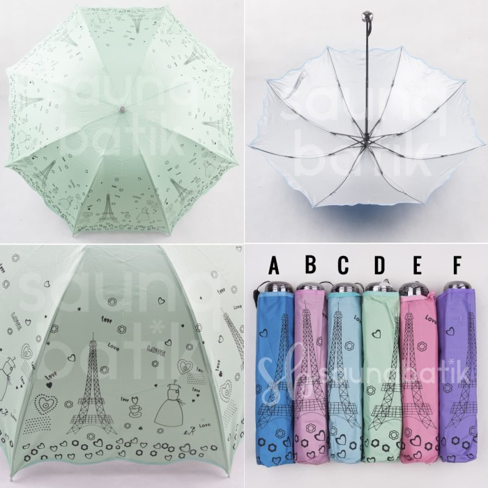 Payung lipat 3 payung lucu payung eiffel
