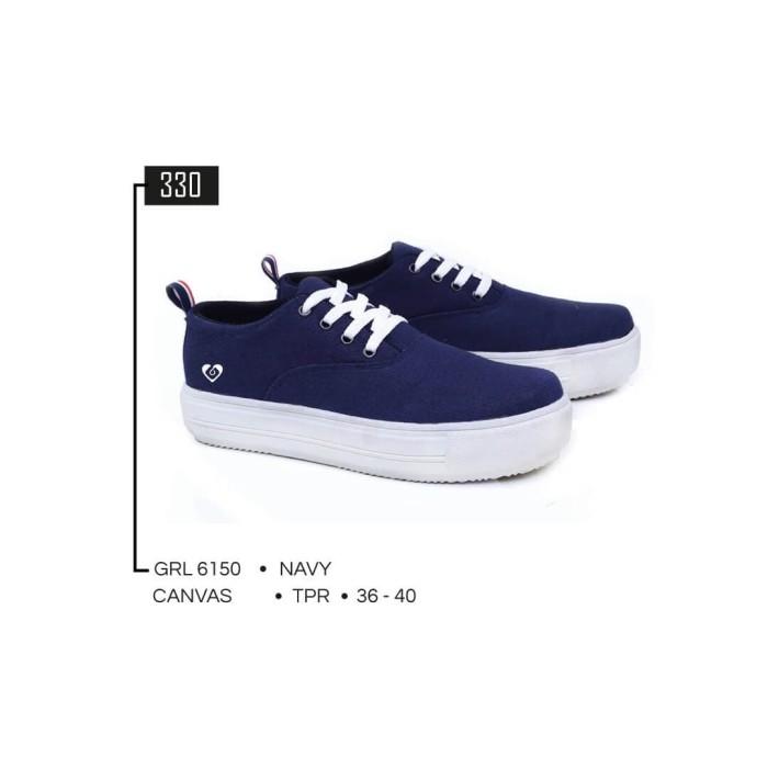 harga Geearsy women sneaker kets sepatu wanita canvas navy grl 6150 murah Tokopedia.com