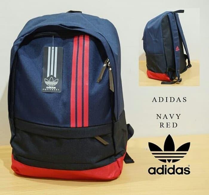 Jual Tas Ransel Backpack Adidas Original Navy Red Tas Travelling Sekolah DKI Jakarta ARIE CLOTHING STORE | Tokopedia