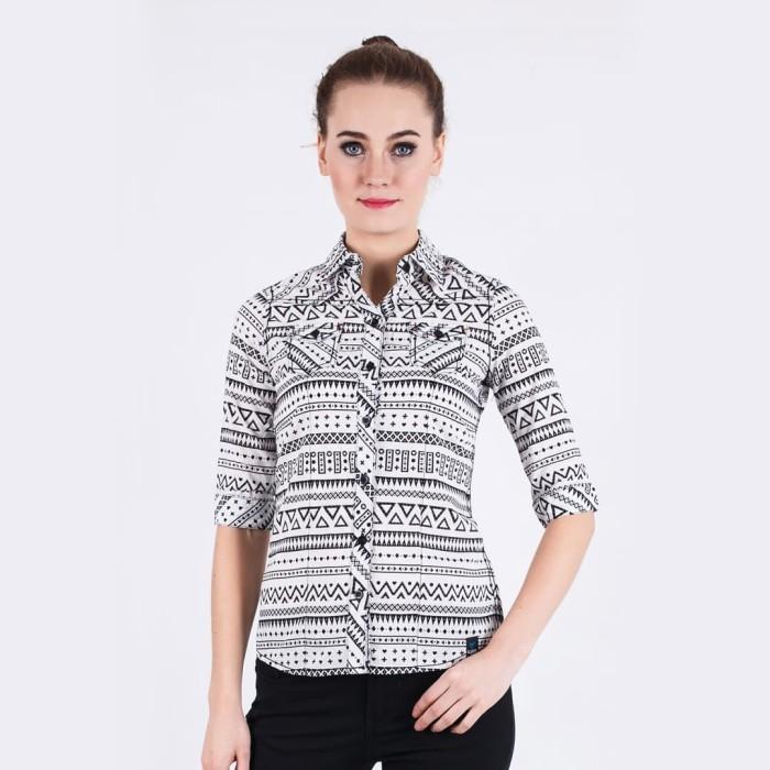 Lgs - slim fit - ladies shirt - gray - long sleeve - abu-abu muda xl