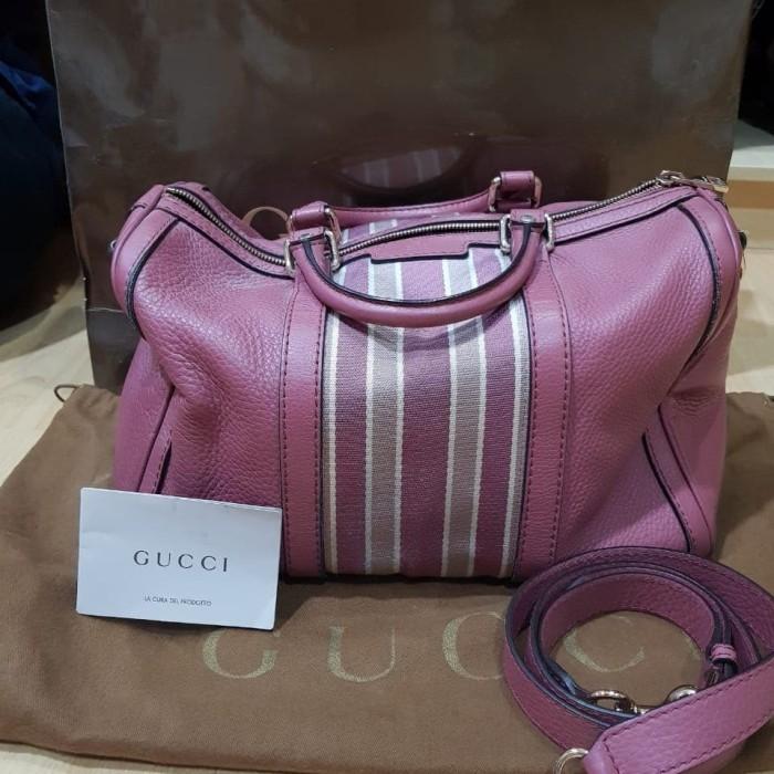 Gucci boston leather pink Db + strap