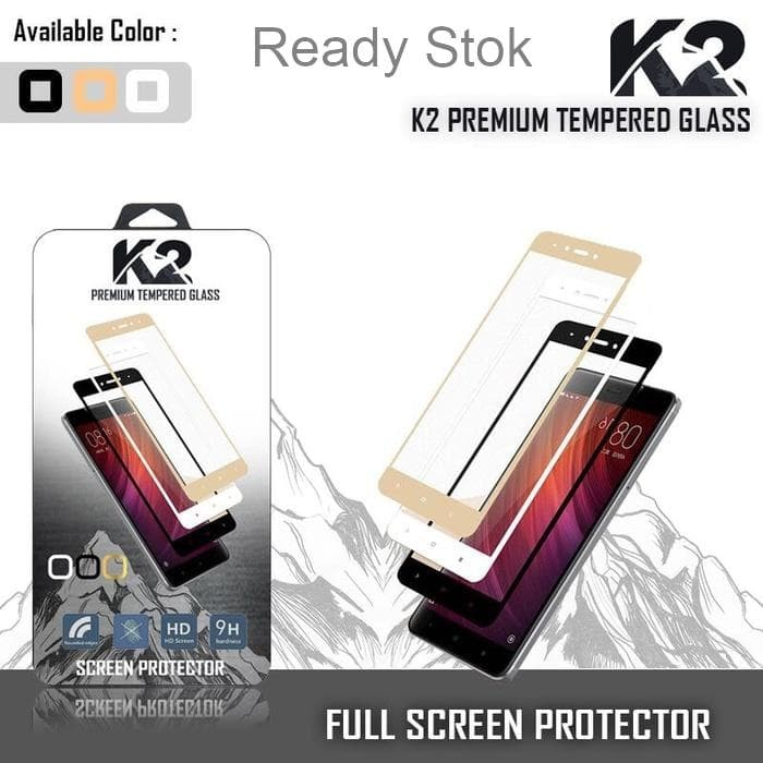Tempered Glass WARNA K2 PREMIUM FUL LAYAR OPPO F7