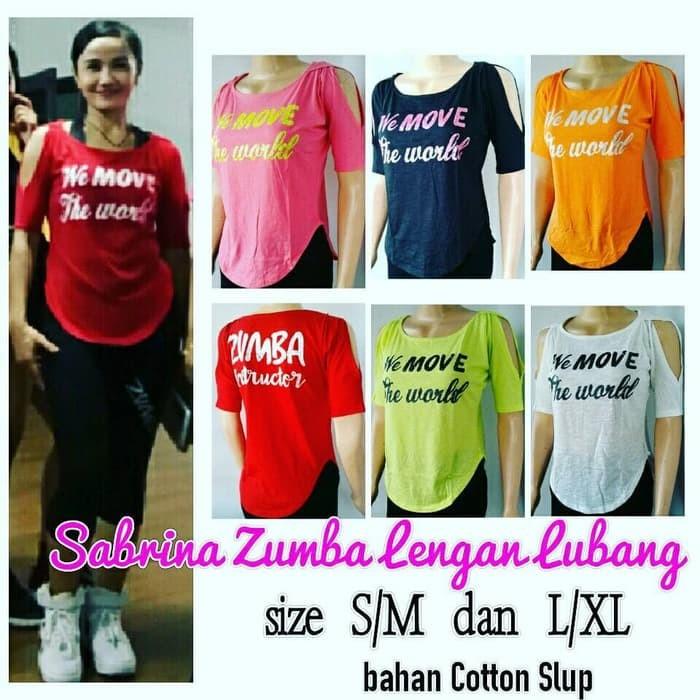 NuMurah baju senam/baju zumba/tanktop kaos olahraga baju oblong/Tshirt