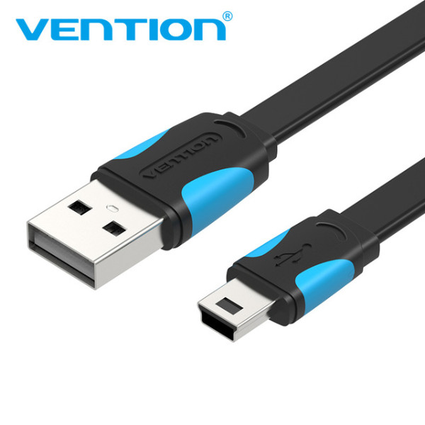 Foto Produk Vention A14 Kabel Data Mini 5 pin USB 2.0 - Hitam - 25cm dari SinShe-Tekno
