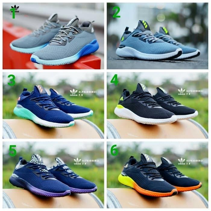 Jual sepatu adidas alphabounce sneakers olahraga pria murah ... 2e79843b1a