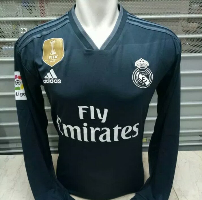 083bb25c9 Jual JERSEY REAL MADRID AWAY 2018-2019 GRADE ORI LONG SLEEVE LENGAN ...