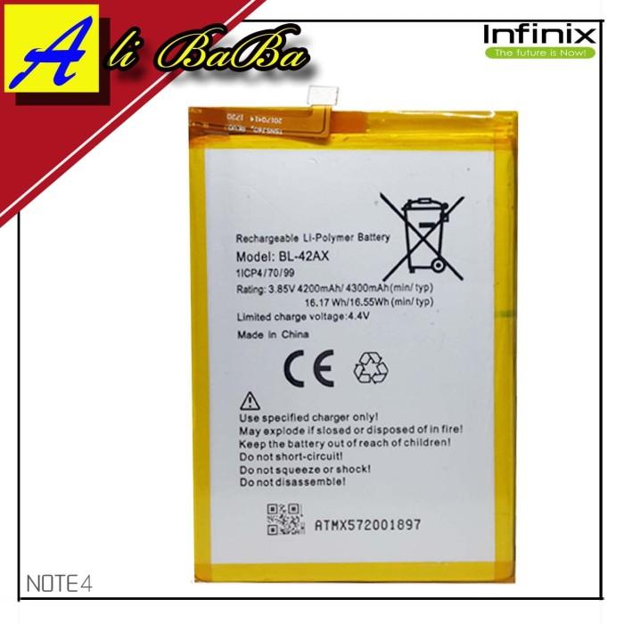 harga Baterai handphone infinix hot note 4 x572 bl-42ax batre hp infinix hot Tokopedia.com