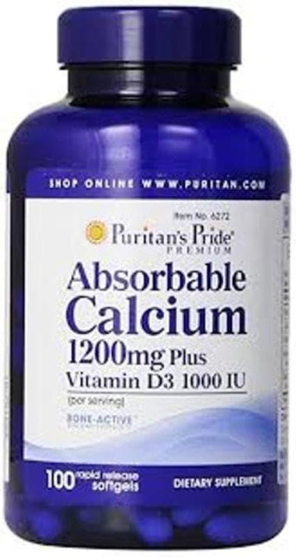 harga Puritans Absorbable Calcium 1200mg With Vit D - Kalsium Cair Blanja.com