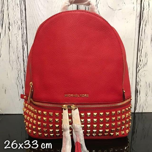 887b25e4fd48e6 Jual Tas michael kors original - Mk rhea medium backpack studded red ...