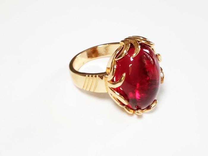 harga Vee cincin wanita lapis emas batu merah delima siam oval Tokopedia.com