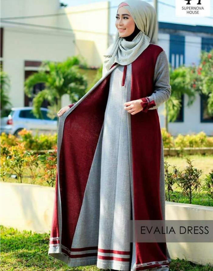 ed23381c7d ... harga Baju dress gamis wanita rajut terbaru original bandung high  quality Tokopedia.com