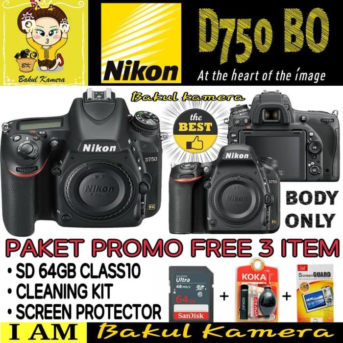 Kamera DSLR NIKON D750 BODY ONLY Terbaik XTT10455 High Quality