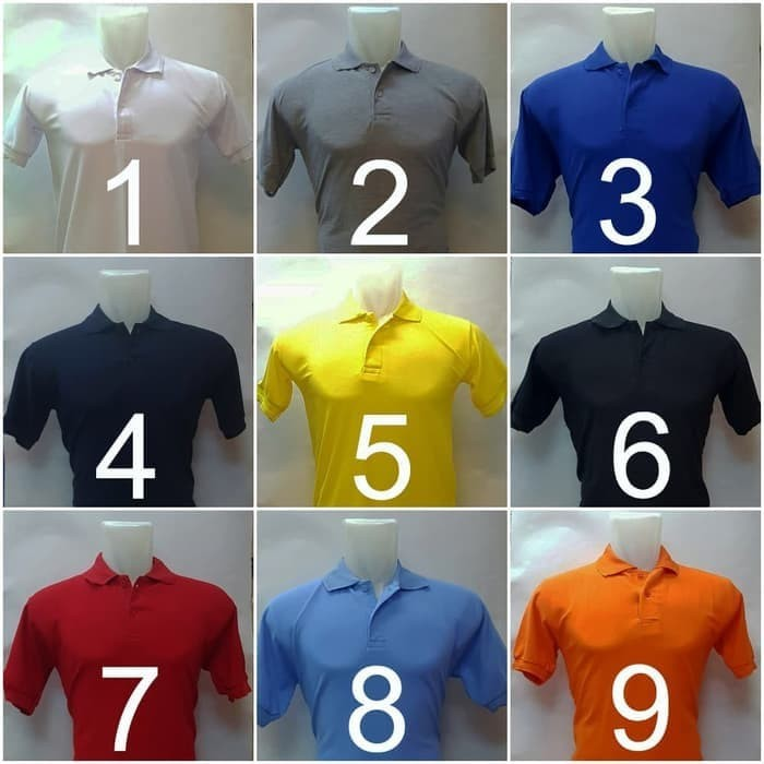 Kaos polo shirt polos kerah premium grosir golf rasa lacoste/gildan