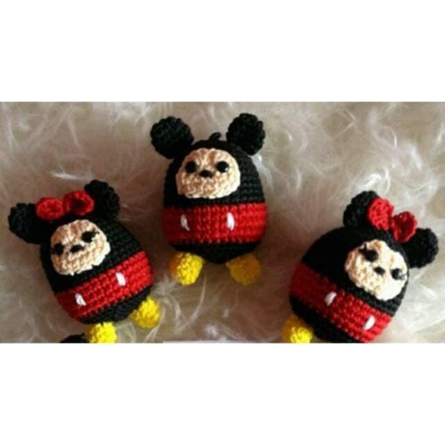 Foto Produk Baru boneka rajut tsum tsum mickey mouse mini mouse dari Lyanna Store