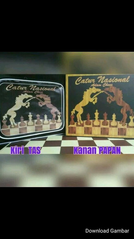 Jual Mainan Catur Kayu Papan Lipat Papan Catur Standard International Jakarta Barat Dinda Store12