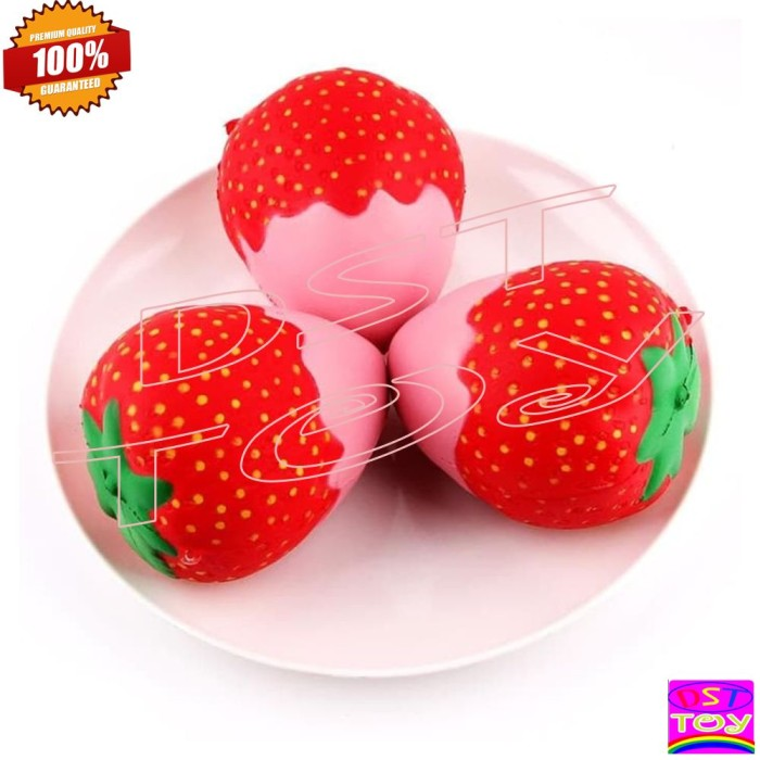 Squishy Licensed Selai Strawberry Coklat 10cm SE046 By Sunny Squishy