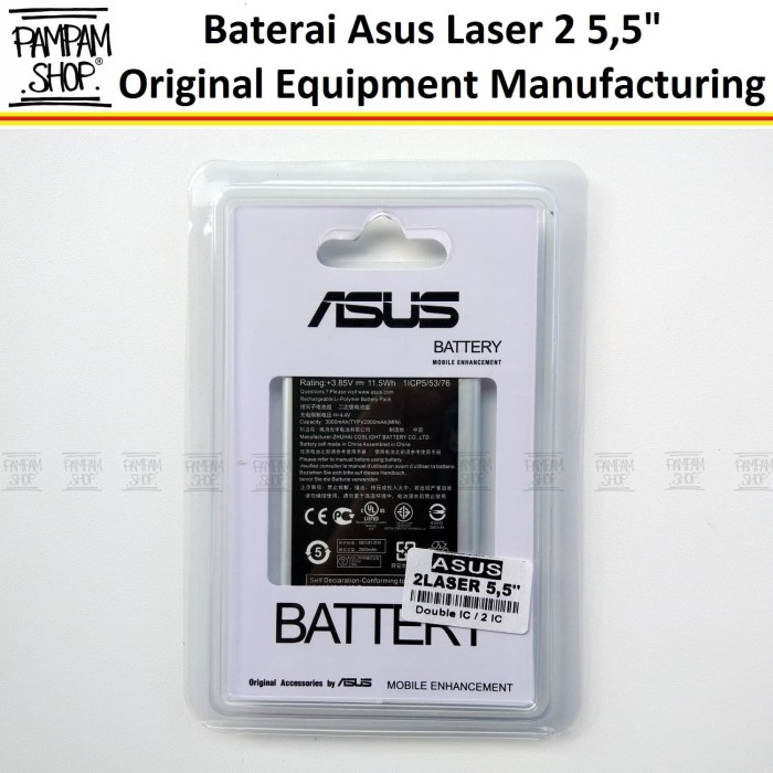 harga Baterai handphone asus zenfone laser 2 55  55 inchi selfie original Tokopedia.com