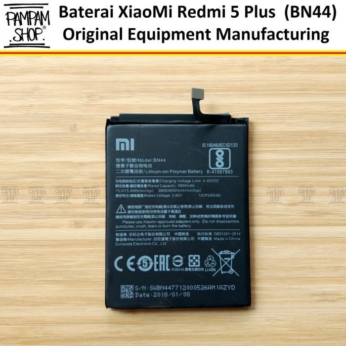 harga Baterai handphone xiaomi redmi 5 plus 5+ bn44 original bn 44 xiao mi Tokopedia.com