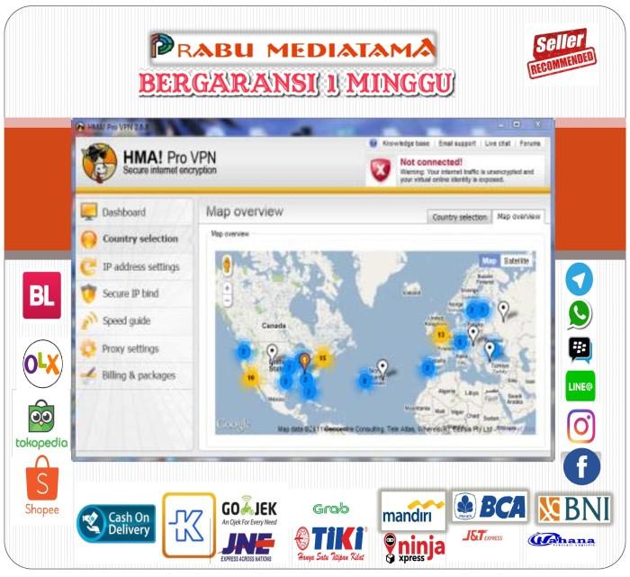 Jual HMA! Pro VPN 3 4 6 1 - Prabu Mediatama   Tokopedia