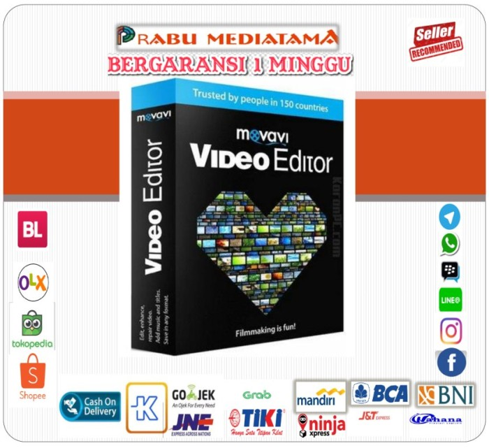 harga Movavi video editor plus 14.3.1 Tokopedia.com