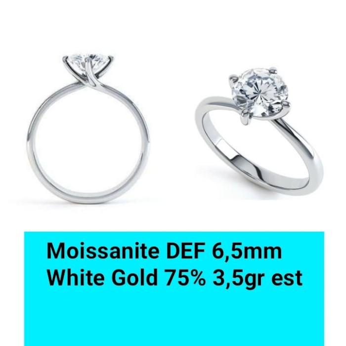 harga Cincin emas moissanite def similar to forever one Tokopedia.com