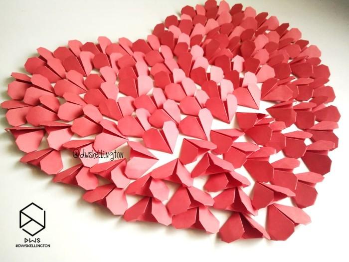 Jual Kertas Hati Origami Heart Love Bahan Scrapbook Frame Mahar Medan Kota Medan Doodle Art Dwskellington Tokopedia