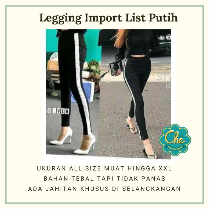 Jual Legging Import Hitam List Putih Leggings Panjang Legging Tebal Kota Bekasi Che Che Corners Tokopedia
