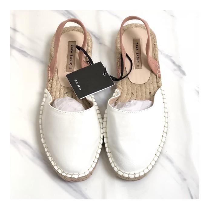 67c4ab60c Jual Sepatu Slop Wanita Espadril Zara Woman Original Not Birkenstock ...