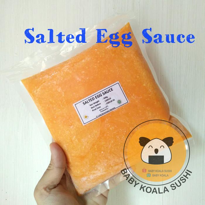 Foto Produk SALTED EGG SAUCE 500g   Frozen Salted Egg Yolk   Saus/ Saos Telur Asin dari Baby Koala