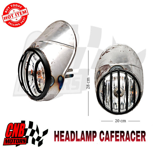 harga Visor feraing lampu depan japstyle caferacer headlamp hd owen grill hi Tokopedia.com