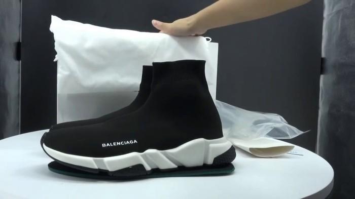 Jual Sepatu Pria - Balen ciaga Top Speed Trainer Black White Black ... 9c34d6708b