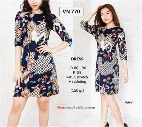 harga Sevn770 - dress batik bunga etnik wanita modern mura olla sepan Tokopedia.com