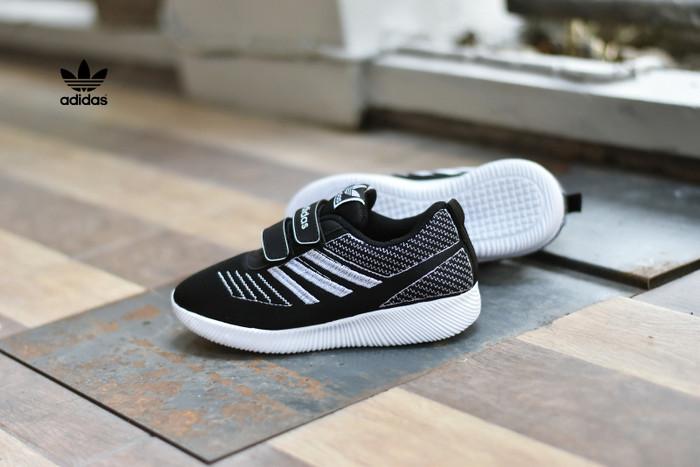 09ec37afe3e7b7 ... harga Sepatu sport olahraga anak adidas running kids hitam putih  surabaya Tokopedia.com