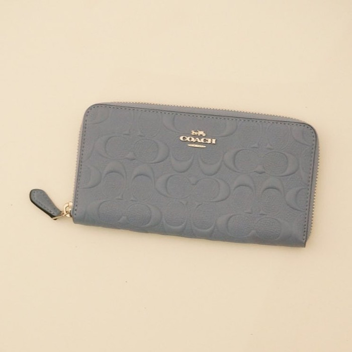 Dompet Coach Original   Coach Accordion Wallet Debossed Embossed Pool bd2a21b757