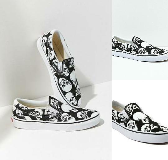Jual Sepatu Vans Slip On Skull Black White Premium Original - DKI ... 48a7e9957