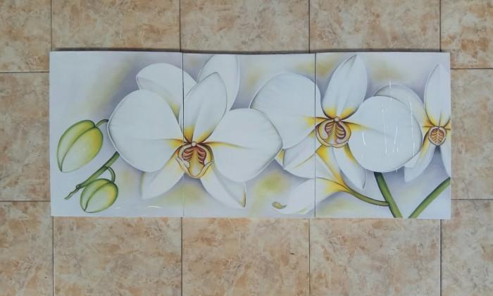 Jual Lukisan Panel Bunga Anggrek Bulan Putih Kab Gianyar