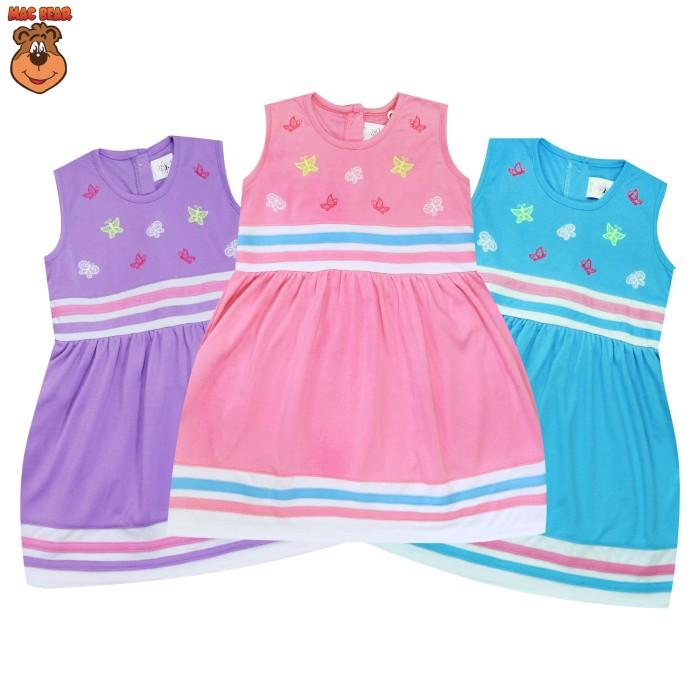 macbee kids baju anak dress cute butterfly - size 6 ungu