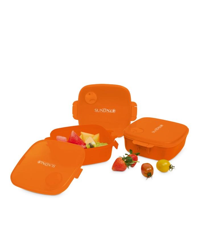 tempat makan / kotak makan / microwaveable lunch set - x1095o3