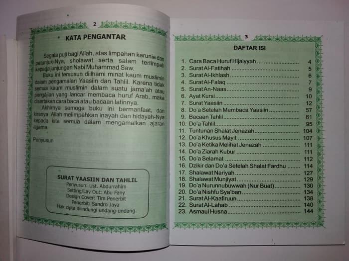 Jual Buku Yasin Tahlil Dan Doa Nurbuat Dki Jakarta Sugiharto Store Tokopedia