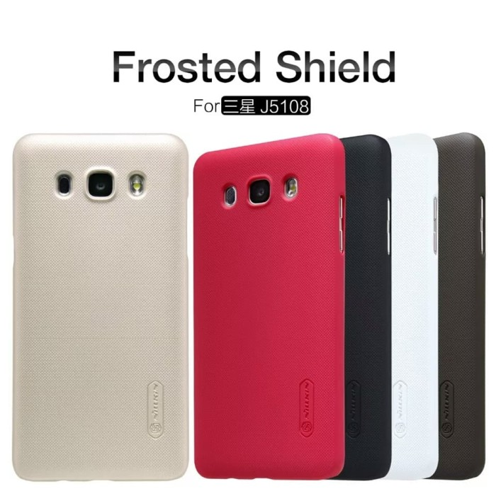 Hardcase Nillkin Samsung Galaxy J5 2016 J510 Case Nillkin Frosted Shie - Hitam