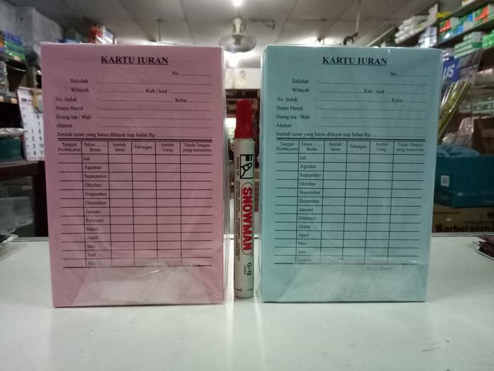 Jual Kartu Iuran Bayaran Siswa Sekolah Kota Tangerang Pembina Stationery Tokopedia