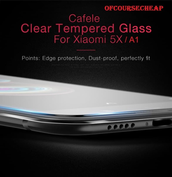Foto Produk CAFELE XIAOMI MI 5X MI5X MI A1 MIA1 TEMPERED GLASS CLEAR HD dari Of Course Cheap