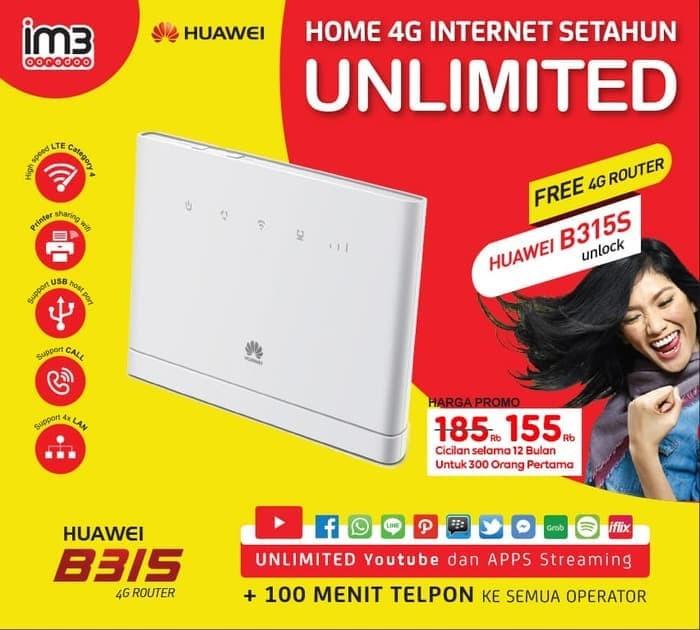 Jual Huawei HOME B315S UNLOCK 4G Bundle Indosat UNLIMITED Internet 1TAHUN -  Kota Medan - Anugrah Com | Tokopedia