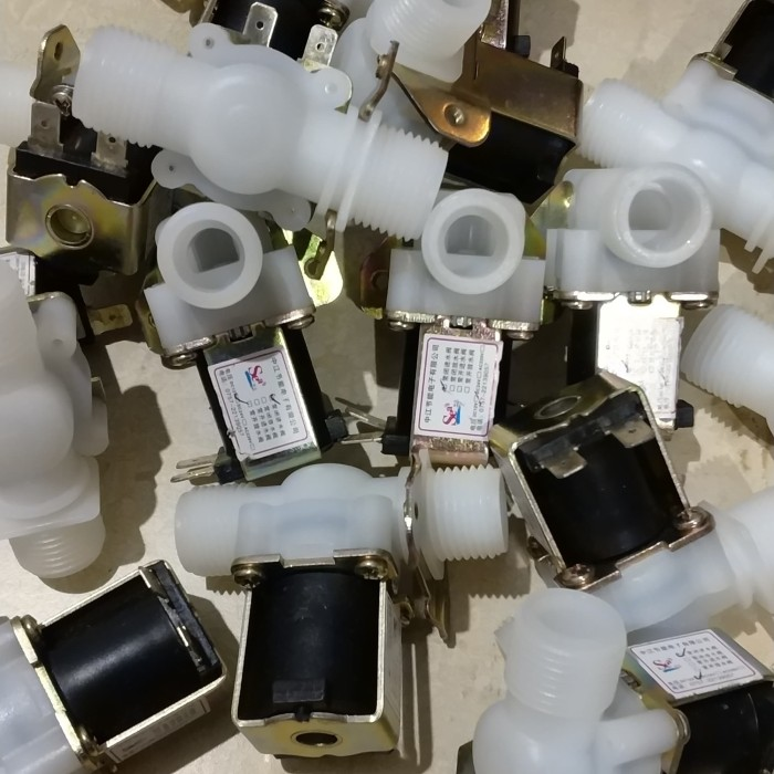 harga 220v electric solenoid valve magnetic water air inlet flow switch 1/2 Tokopedia.com