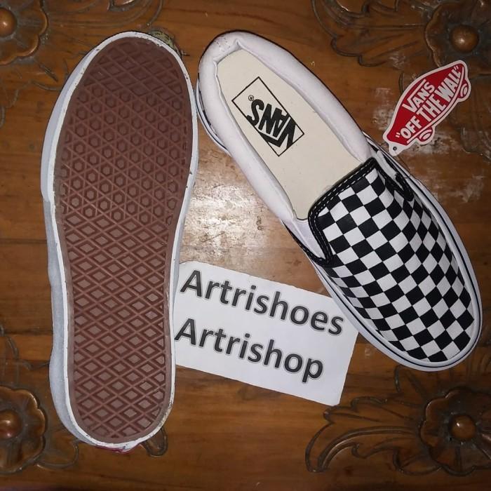 ... Vans Slip On Checkerboard Black White Premium High Quality - Blanja.com  ... c1eeffe425